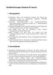 Veröffentlichungen (Andreas M - Lehrstuhl für Internationale Politik ...