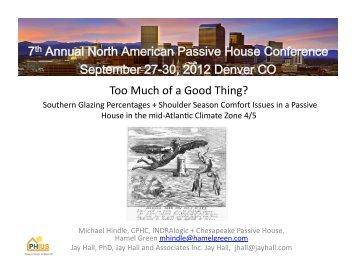September 27-30, 2012 Denver CO - Passive House Institute US