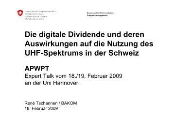 Die digitale Dividende und deren Auswirkungen auf die ... - apwpt