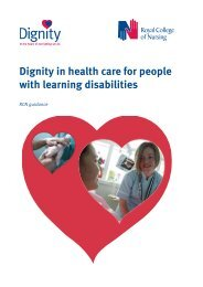 Dignity in health care for people with learning disabilities