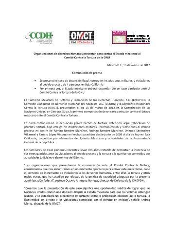 Organizaciones de derechos humanos presentan caso contra el ...