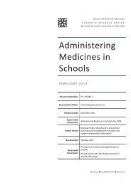 Administering Medicines in Schools - Catholic Schools Office ...