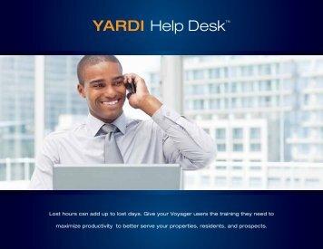 YARDI Help Desk™ - Yardi Systems UK