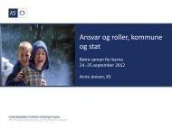 Anne Jensen: Ansvar og roller, kommune og stat