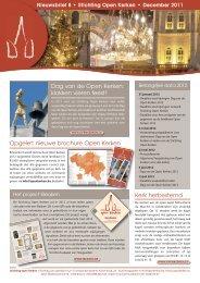 Nieuwsbrief 8 - december 2011 - Open kerken