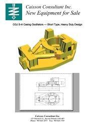 Caisson Consultant Inc - Used Foundation Drilling Equipment