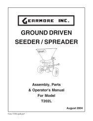 GROUND DRIVEN SEEDER / SPREADER - Gearmore, Inc.