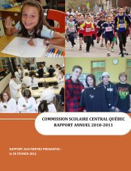 Rapport annuel 2010-2011 - Commission scolaire Central Québec