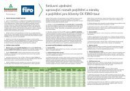 Smluvní ujednání cestovní pojištění KOLUMBUS ... - FIRO-tour, a.s.