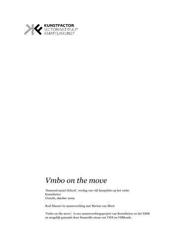 Vmbo on the move - LKCA Landelijk Kennisinstituut Cultuureducatie ...