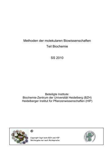 Skript zum Teil Biochemie - ZMBH