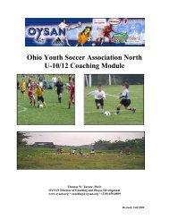 U10/12 Course Manual - Ohio Youth Soccer Association North