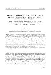 analýza stavebně historického vývoje lesoparků znojmo – část ...