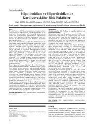 Hipotiroidizm ve Hipertiroidizmde Kardiyovasküler ... - Yeni Tıp Dergisi