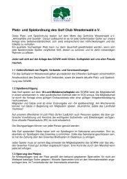 Spielordnung des Golf Club Weselerwald 2012 - Golfclub ...