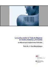 La Lucha contra la Trata de Mujeres en Centro América y ... - UPNFM