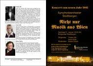 Nicht nur Musik aus Wien - Symphonieorchester Stadtbergen