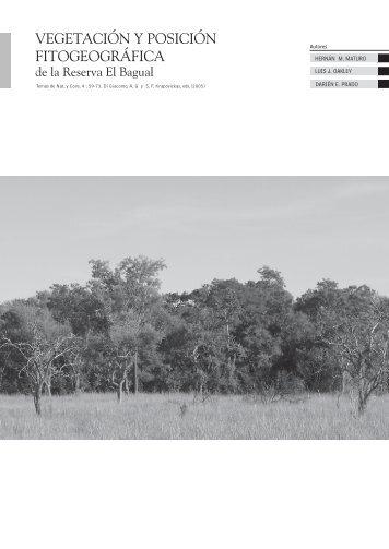 Vegetación y Fitogeografía - Aves Argentinas