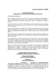 decreto supremo n° 0181 - Ministerio de Salud y Deportes