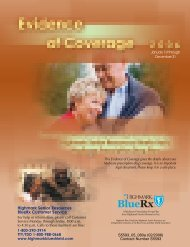 Evidence of Coverage - Highmark Blue Shield