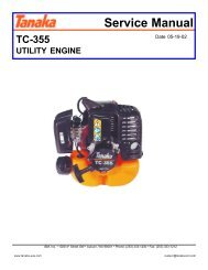Tanaka 35cc engine service manual - Gas Scooters
