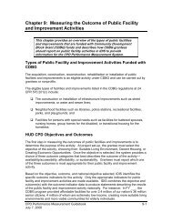 Chapter 9: Measuring the Outcome of Public Facility and ... - HUD