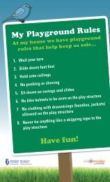 My Playground Rules Have fun! - Staying On Your Feet