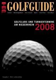 GOLFCLUBS UND TURNIERTERMINE AM NIEDERRHEIN 2008 ...