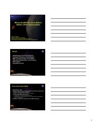 NASA's SAP Implementation - NASACT