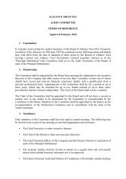 Audit Committee terms of reference - September 2012 - Alliance Trust