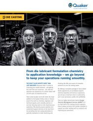 Die Casting Segment Overview - Quaker Chemical Corporation
