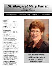 October 9, 2011 - Saint Margaret Mary Parish