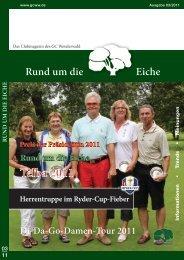 Download Clubzeitschrift 3/2011 - Golfclub Weselerwald eV