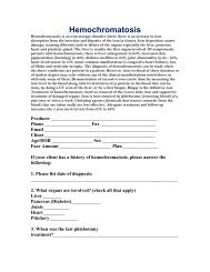 Hemochromatosis - Shaw American