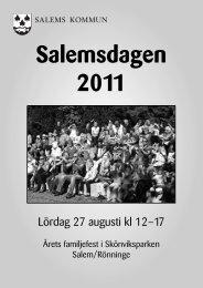 Program för Salemsdagen 2011 - Salems kommun