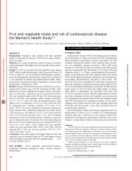 Fruit and vegetable intake and risk of ... - San Juan College