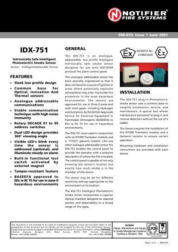IDX-751 - Notifier