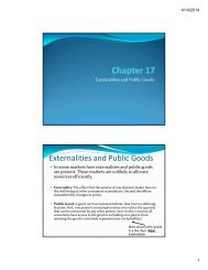 Chapter 17 Chapter 17 Externalities and Public Goods