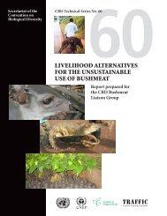 LiveLihood aLternatives for the unsustainabLe use of bushmeat
