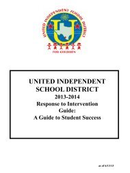 Rtl Guide 2013-2014 - United Independent School District