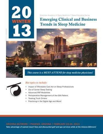 This course is a MUST-ATTEND for sleep medicine physicians