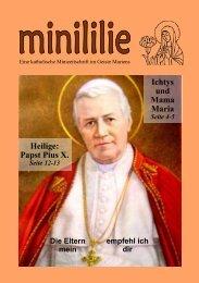 Ichtys und Mama Maria Heilige: Papst Pius X.