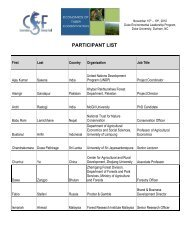 PARTICIPANT LIST - Conservation Strategy Fund