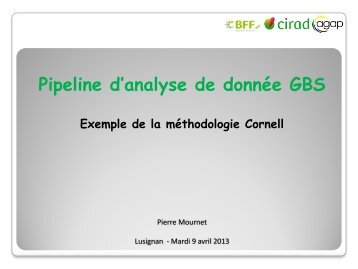 Analyse de données GBS - Inra