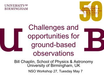 Challenges and Opportunities for Ground-Based Observations