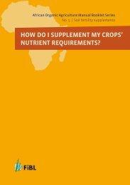 African Organic Agriculture Training Manual ... - Organic-World.net