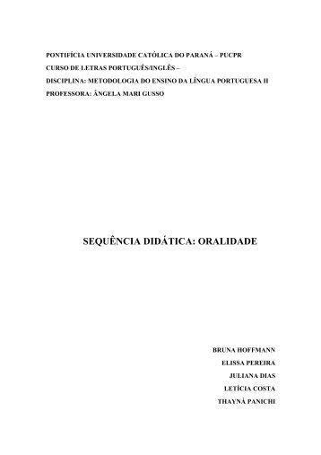 O Ensino da Oralidade nas aulas de Língua Portuguesa