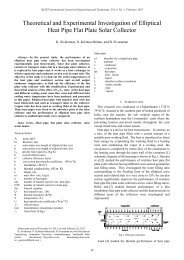 Theoretical and Experimental Investigation of Elliptical Heat ... - IJET