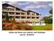 Infos zur Damentour 2012 - Golfclub am Lüderich