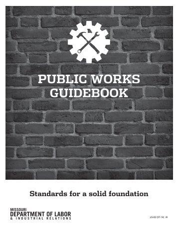 Public Works Guidebook - Missouri Department of Labor & Industrial ...